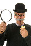 Inspector with magnifier Royalty Free Stock Photography