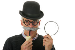 Inspector with magnifier Royalty Free Stock Photo