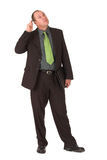 Inspector rethink. Inspector scratching head over problem Stock Photos