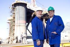 Inspectores de la plataforma petrolera imagen de archivo libre de regalías