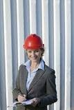 Inspectrice industrielle de femme Photos stock