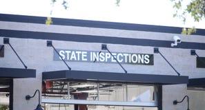 Inspektions-Station für Kraftfahrzeuge lizenzfreie stockfotos