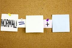 Inspiração conceptual do subtítulo do texto do anúncio que mostra o conceito normal do negócio para a edição anormal w do problem Imagens de Stock