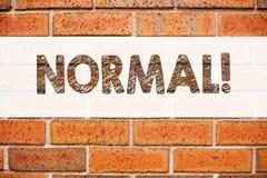 Inspiração conceptual do subtítulo do texto do anúncio que mostra o Normal Conceito do negócio para a edição anormal do problema  Fotografia de Stock