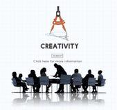 A inspiração da aspiração da faculdade criadora inspira o conceito das habilidades Imagem de Stock