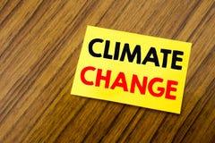 Inspiração do subtítulo do texto da escrita da mão que mostra alterações climáticas Conceito do negócio para o aquecimento global Imagens de Stock