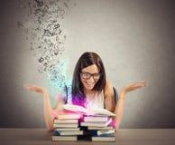 Inspiração dos livros Fotos de Stock