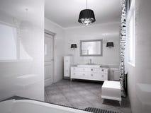 Inspiração para o banheiro moderno Fotos de Stock Royalty Free