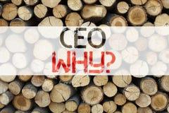 Inspiración conceptual del subtítulo del texto del aviso que muestra el concepto del CEO Business para el wr de funcionamiento de Imagen de archivo libre de regalías