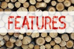 Inspiración conceptual del subtítulo del texto del aviso que muestra el concepto del negocio de las características para la publi fotos de archivo