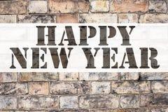 Inspiración conceptual del subtítulo del texto del aviso que muestra Feliz Año Nuevo Concepto del negocio para la celebración de  Foto de archivo libre de regalías