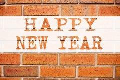 Inspiración conceptual del subtítulo del texto del aviso que muestra Feliz Año Nuevo Concepto del negocio para la celebración de  Imágenes de archivo libres de regalías