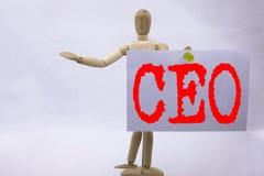 Inspiración conceptual del subtítulo del texto de la escritura de la mano que muestra el concepto del CEO Business para el wr de  Fotografía de archivo