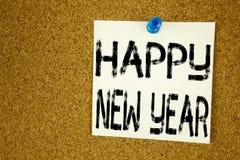 Inspiración conceptual del subtítulo del texto de la escritura de la mano que muestra Feliz Año Nuevo Concepto del negocio para l Imagen de archivo libre de regalías