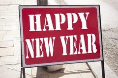 Inspiración conceptual del subtítulo del texto de la escritura de la mano que muestra Feliz Año Nuevo Concepto del negocio para l Fotos de archivo libres de regalías