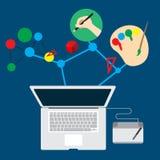 Inspiración de Job Graphic Design del negocio Imagen de archivo