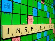 Inspiración del Scrabble Imágenes de archivo libres de regalías