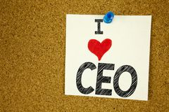 Inspiración del subtítulo del texto de la escritura de la mano que muestra al líder de funcionamiento Business Executive Presiden Foto de archivo
