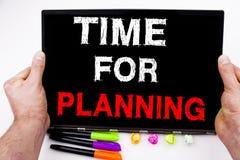 Inspiración del subtítulo del texto de la escritura de la mano que muestra la hora por el tiempo de planificación del negocio del Imagen de archivo libre de regalías
