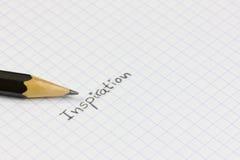 Inspiración en un cuaderno fotos de archivo libres de regalías