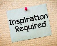 Inspiración requerida imagenes de archivo