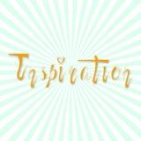 Inspiración retra escrita mano de las letras Foto de archivo libre de regalías