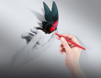 Inspiraci pojęcie z pięknym motylem Obraz Stock