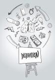 Inspiraci wiadomość z ilustracjami Fotografia Stock