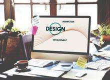 Inspiracja rozwoju projekta Kreatywnie główkowania pojęcie zdjęcia stock