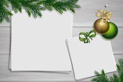 Inspiracji deska z granicą Zimy mockup zdjęcie royalty free