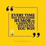 Inspiracyjna motywacyjna wycena Każdy czas ty znajdujesz niektóre humor ilustracja wektor