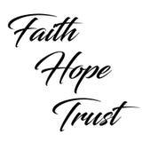 Inspiracyjna wycena: Wiara, nadzieja i zaufanie, Zdjęcia Stock