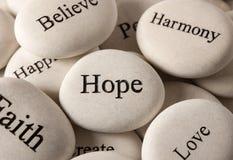 Inspiracyjni kamienie - nadzieja obraz royalty free