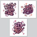 Inspiracyjny ręki literowania motywaci plakat dla Valentine's dnia Zdjęcie Stock