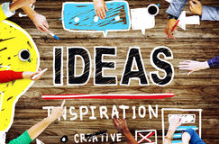 A inspiração das ideias pensa o conceito criativo da pesquisa Imagem de Stock Royalty Free