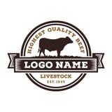 Inspiratie voor Slachtvee Logo Design royalty-vrije illustratie