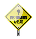 Inspiration ahead road sign illustration design Royalty Free Stock Photo