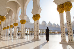Inspiration around us. This photo was taken in Sheikh Zayed Grand Mosque when I had a tour to Abu Dhabi searching for the inspiration in UAE. This moment was Stock Photos