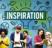 Inspiration Aspiration Confidence Creative Dream Concept.  Royalty Free Stock Image