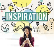 Inspiration Aspiration Confidence Creative Dream Concept Royalty Free Stock Images