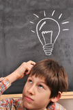 Inspiration by the blackboard Stock Photo