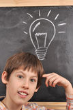 Inspiration by the blackboard Stock Photography