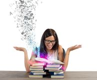 Inspiration from books Royalty Free Stock Photography