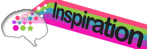 Inspiration Brain Colorful Stripes Images stock