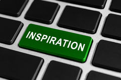 Inspiration button on keyboard royalty free stock photos