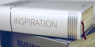 Inspiration Concept on Book Title. 3D. Royalty Free Stock Photos