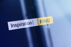 Inspiration concept computer search box Royalty Free Stock Image