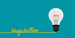 Inspiration concept-Creative idea in bulb shape. Royalty Free Stock Images