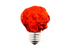 Inspiration concept crumpled paper light bulb metaphor for good Stock Images