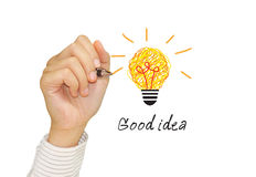 Inspiration concept. For good idea Stock Images